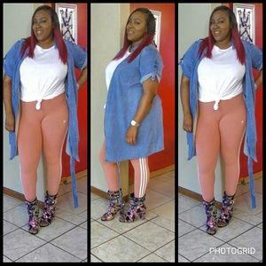 Dresses & Skirts - Blue jean wrap around dress